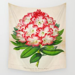 Rhododendron Madame Vintage Botanical Floral Flower Plant Scientific Illustration Wall Tapestry
