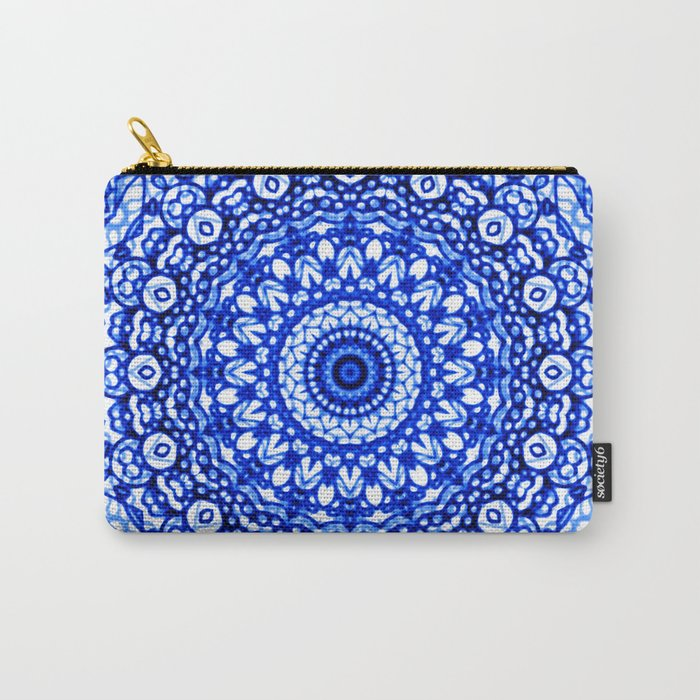 Blue Mandala Mehndi Style G403 Carry-All Pouch