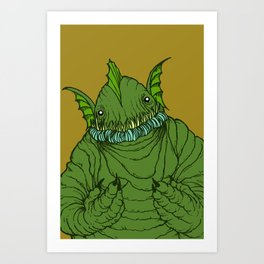 Dagon wants a hug Art Print