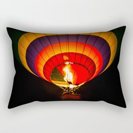 Night hot air balloon adventure Rectangular Pillow