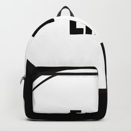 Enby Text-Based Speech Bubble Backpack