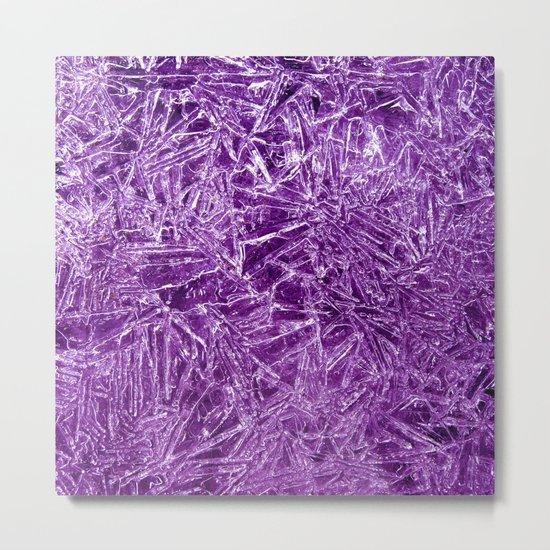 purple ice structure IX Metal Print