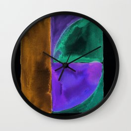 180818 Inverted Geometrical Watercolour 1| Colorful Abstract | Modern Watercolor Art Wall Clock