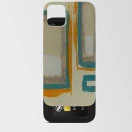 Soft And Bold Rothko Inspired - Corbin Henry Modern Art - Teal Blue Orange Beige iPhone Card Case