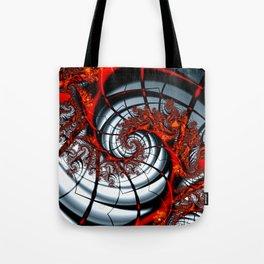 Fractal Art - Burning Web Tote Bag