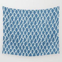 Fishing Net Blue Wall Tapestry
