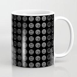 Dark Smiley Pattern Coffee Mug