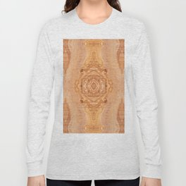 Olive wood surface texture abstract Long Sleeve T-shirt