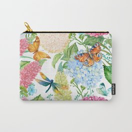 seamless pattern flowers and butterflies.hydrangeas and lupines Carry-All Pouch
