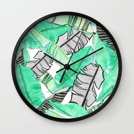 Banana leaf Wall Clock