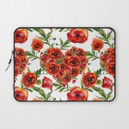 Poppy Heart pattern Laptop Sleeve