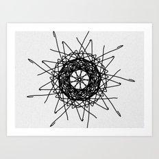 love mandala number 3 - bird's nest Art Print