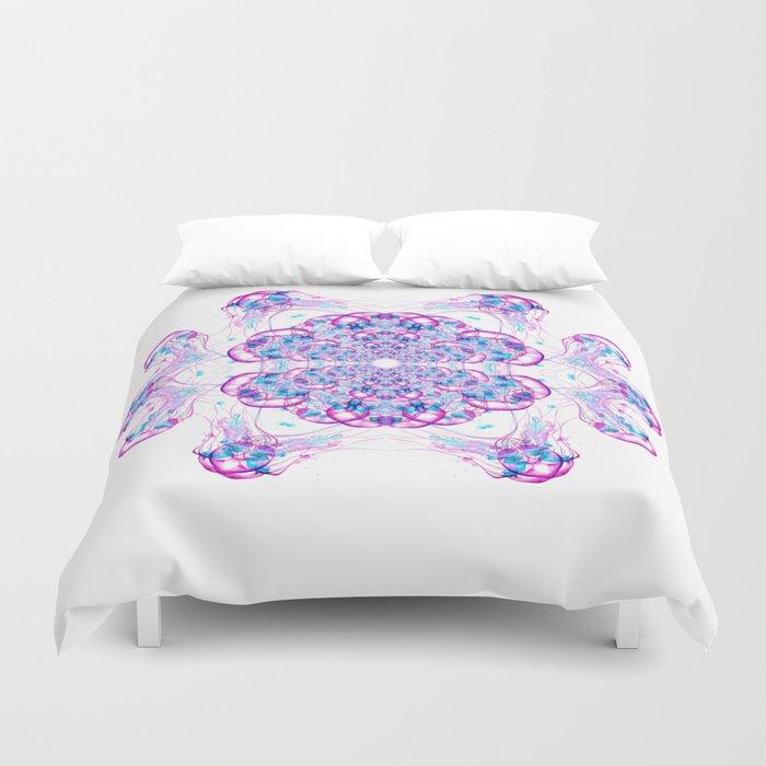 Jellyfish Mandala Duvet Cover