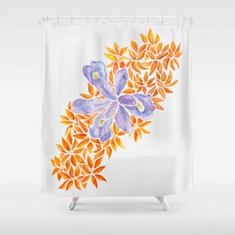 Iris and Butterfly Weeds Shower Curtain