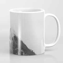 Snow Capped Mountains Fog (Black and White) Coffee Mug