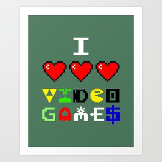 I 3 up video games Art Print