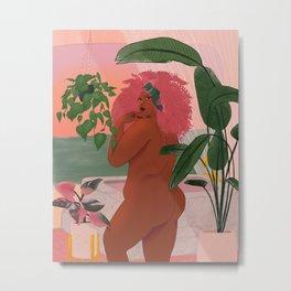 Pink Princess of Paradise Metal Print