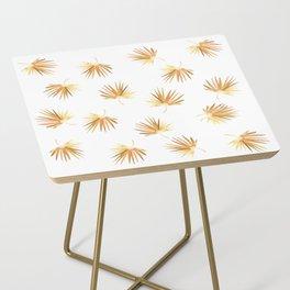 Golden Palm Leaf Side Table