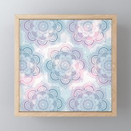 Mandalas Clouds of Cotton Candy Framed Mini Art Print