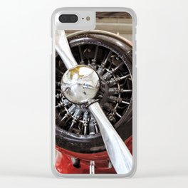 Airplane, Propeller 2 Clear iPhone Case