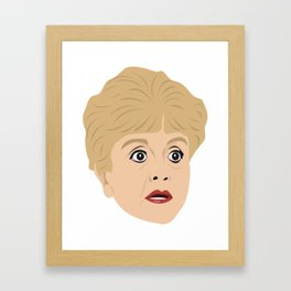 Angela Lansbury as Jessica Fletcher from Murder She Wrote Framed Art Print