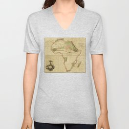 Map of Africa by Aaron Arrowsmith (1802) Unisex V-Neck