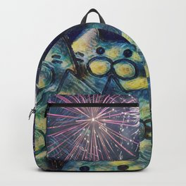 fireworks display cats 492 Backpack