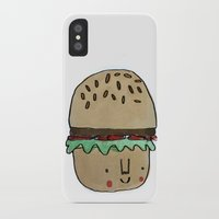 burger iPhone & iPod Cases featuring Burger by Tuesday Logan