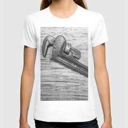 Pipe Wrench - BW T-shirt