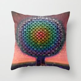 Tree Town Rainbow Etude Throw Pillow
