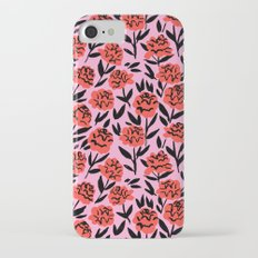 Red Peonies iPhone 7 Slim Case