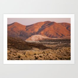 The Pinkest Sunset (Red Rock State Park, California) Art Print