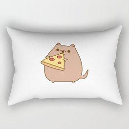 Pupsheen Eating Pizza Rectangular Pillow