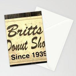 Britt's Donut Shop Sign 3 Stationery Cards