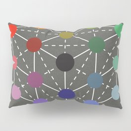 Colour cube (black point) from the Manual of the science of colour by W. Benson, 1871, Remake Pillow Sham