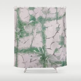 Green Grout Shower Curtain