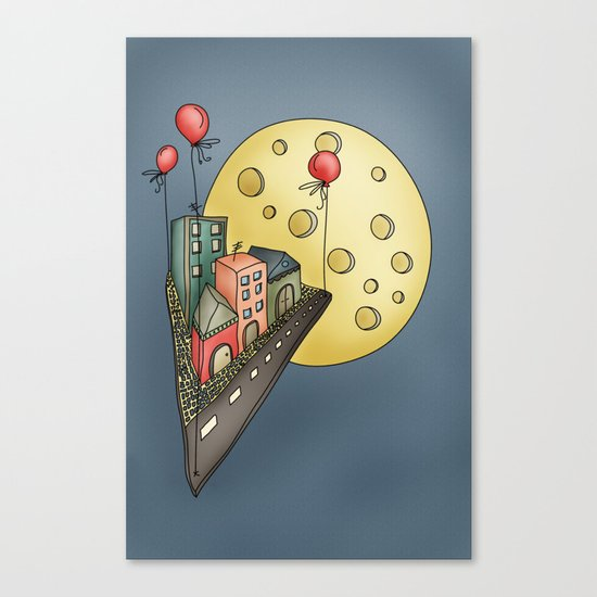 Moon city Canvas Print