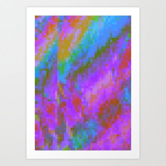RAINBOW GLITCH ART Art Print