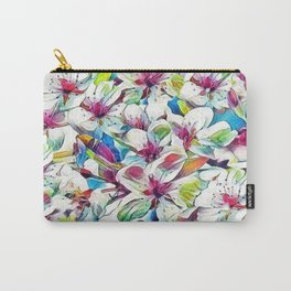 Joyful Spring Floral Abstract Carry-All Pouch