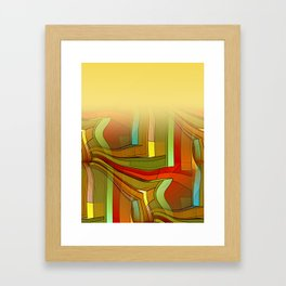 colormix -1- curtain and more Framed Art Print
