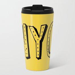 NYC lettering series: #2 Travel Mug