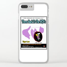 TIGER LEE ...throw back poster Clear iPhone Case