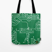 engineer Tote Bags featuring Electrical Engineer by Be Raza