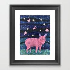 Spacepig Framed Art Print