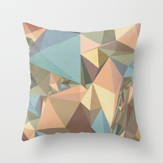 Renaissance Triangle Pyramids Throw Pillow