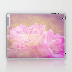 Live And Love Laptop & iPad Skin