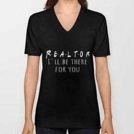 Best Fun Realtor Friends Style Gift Design Unisex V-Neck