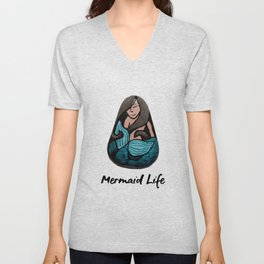 Mermaid Life Rock Painting By annmariescreations Unisex V-Neck