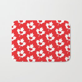 Canada Day Maple and Heart Bath Mat
