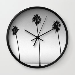 PALM TREES XVI / San Diego, California Wall Clock